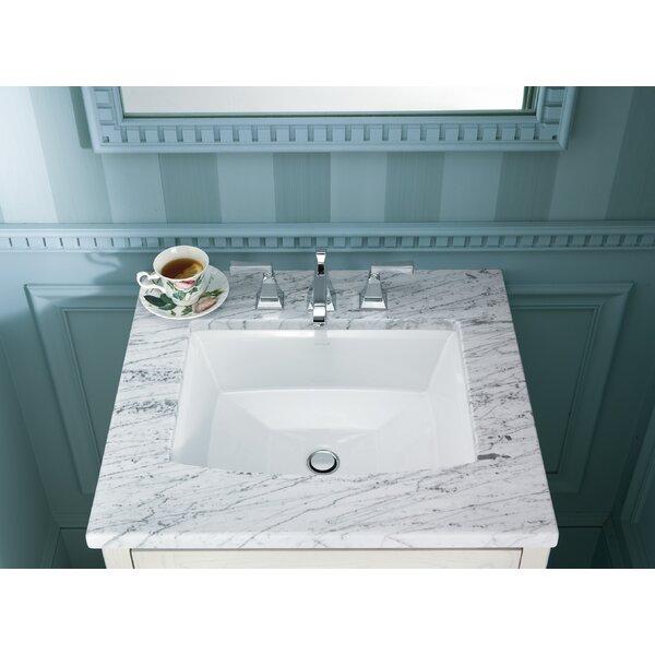 Archer Ceramic Rectangular Undermount Bathroom Sink with Overflow by Kohler