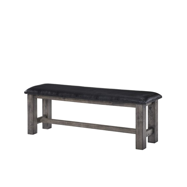 Katarina Faux Leather Bench by Mistana