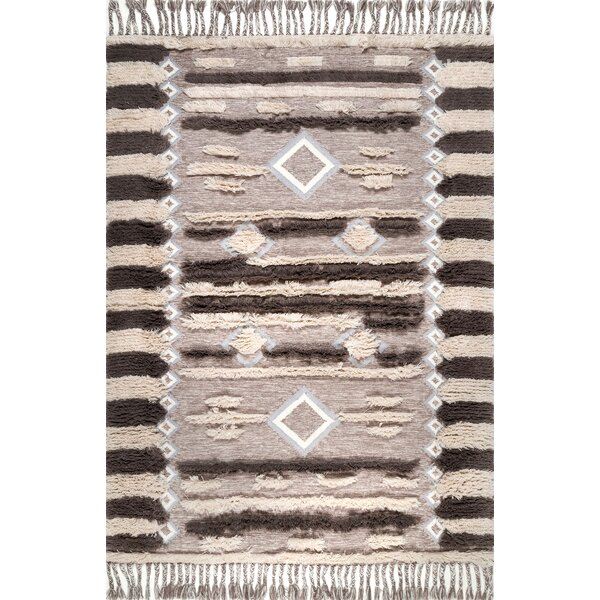 Perlman Hand-Woven Wool Brown/Beige Area Rug by Bungalow Rose