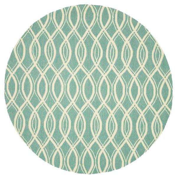 Danko Hand-Hooked Green/Beige Indoor/Outdoor Area Rug by Wrought Studio