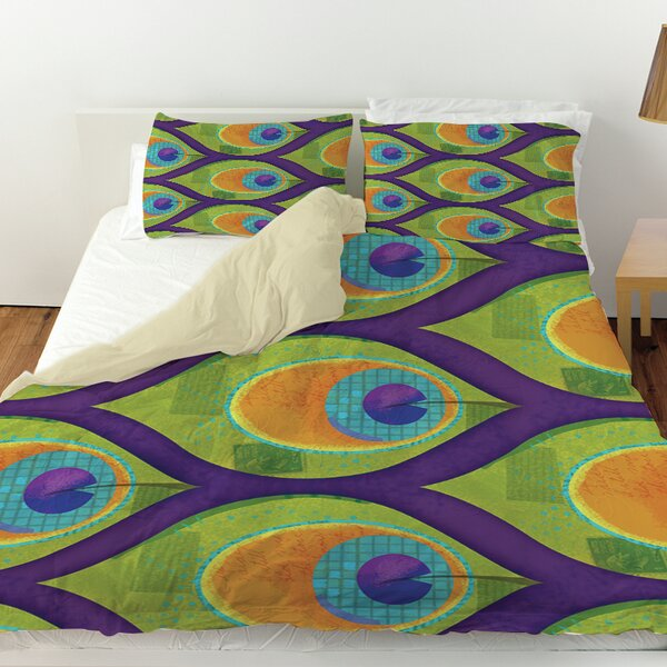 Peacock Pattern 10 Duvet Cover by Manual Woodworkers & Weavers