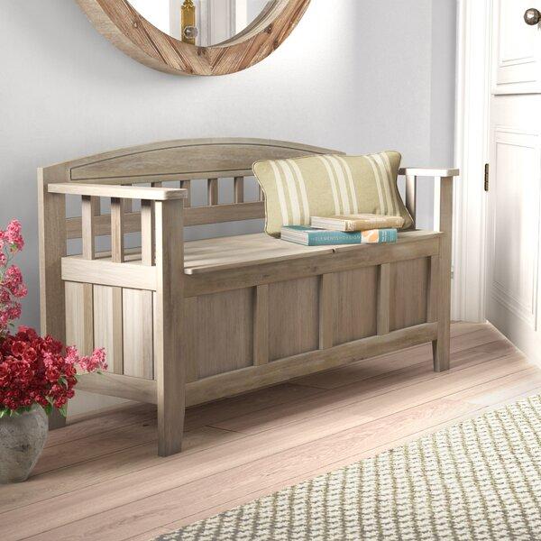 Apruva Wood Storage Bench by Gracie Oaks