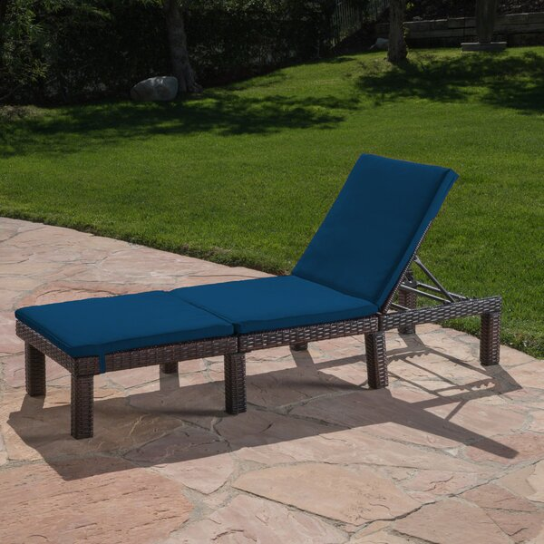 Figgs Reclining Chaise Lounge with Cushion by Breakwater Bay