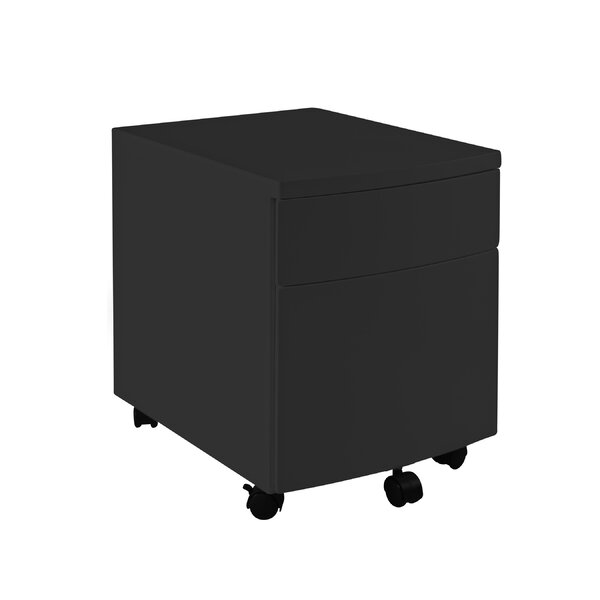 2 Drawer Mobile Vertical Filing Cabinet by Symple Stuff