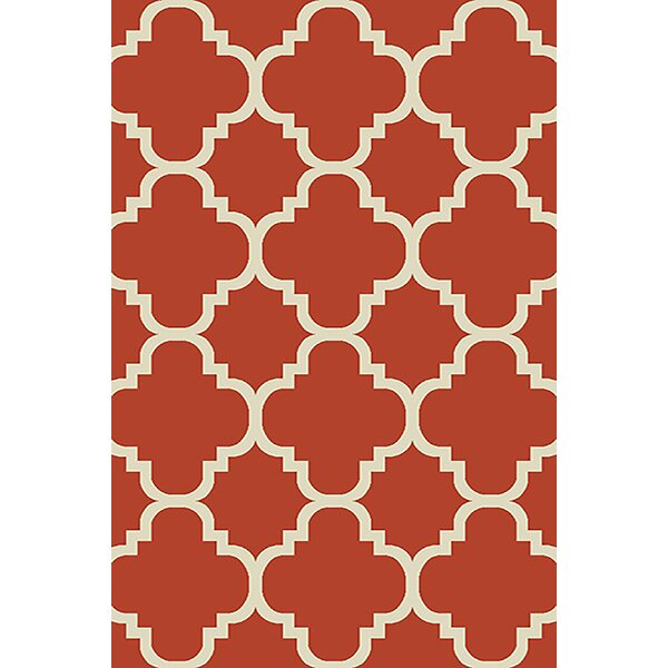 Mccampbell 3D Orange Area Rug by Ivy Bronx