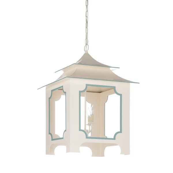 3 - Light Lantern Rectangle Chandelier by Wildwood Wildwood