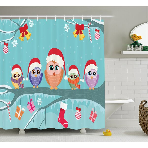 Sydnee Cute Owl Family Tree Shower Curtain by Zoomie Kids