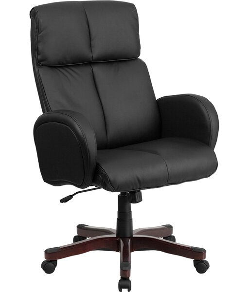 Worsley Leather Executive Chair by Symple Stuff
