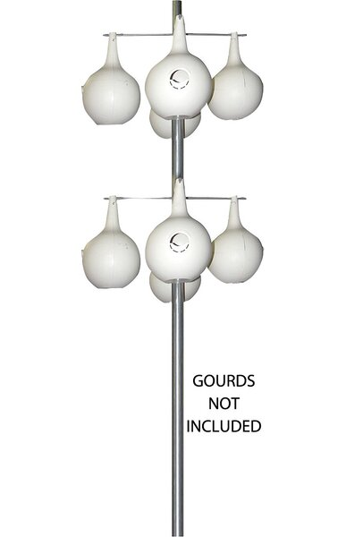 Galvanized Steel Gourd Pole by Heath Mfg Co