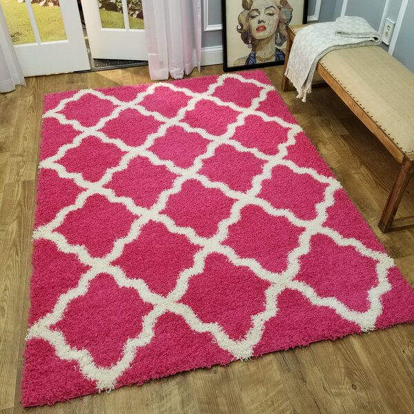 Burns Trellis Pink Area Rug by Zipcode Design