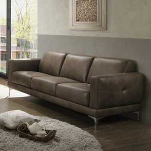 Madigan Leather Sofa by Ivy Bronx