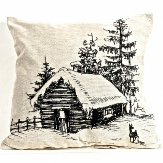 Aliff Tapestry Log House Pillow Cover by Loon Peak