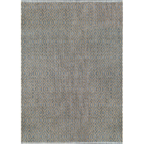 Bernetta Hand-Woven Blue/Natural Area Rug by Williston Forge