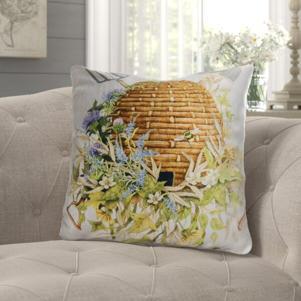 Assad Bee Hive Cotton Throw Pillow by August Grove