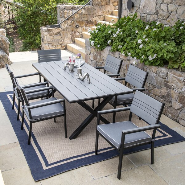 Mirabelle Patio 7 Piece Dining Set with Cushions by Latitude Run