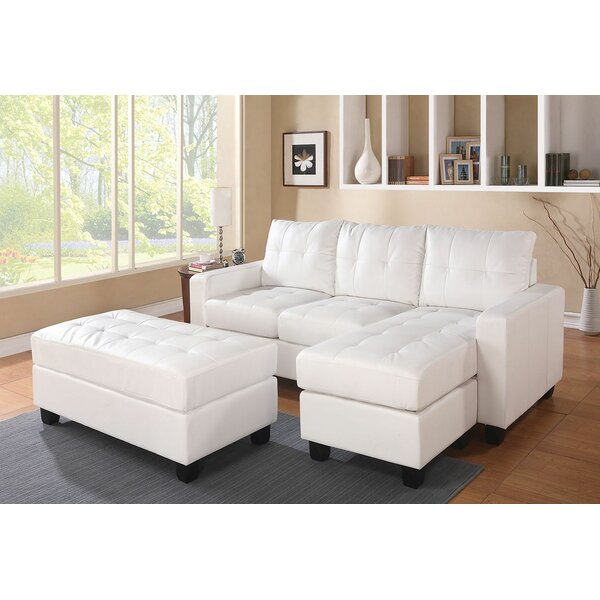 Omeara Bonded Sectional with Ottoman by Ebern Designs