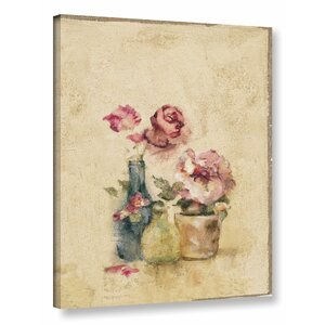 'Rose Panel III' Painting Print on Wrapped Canvas by Ophelia & Co.