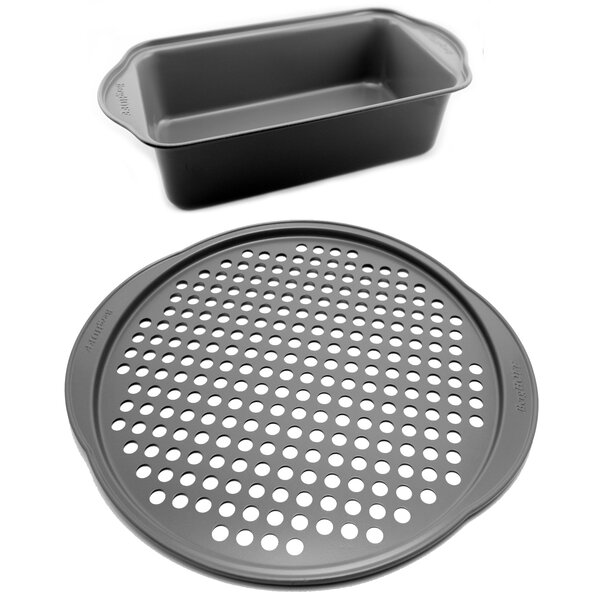 EarthChef Pizza and Loaf Pan Set (Set of 2) by BergHOFF International