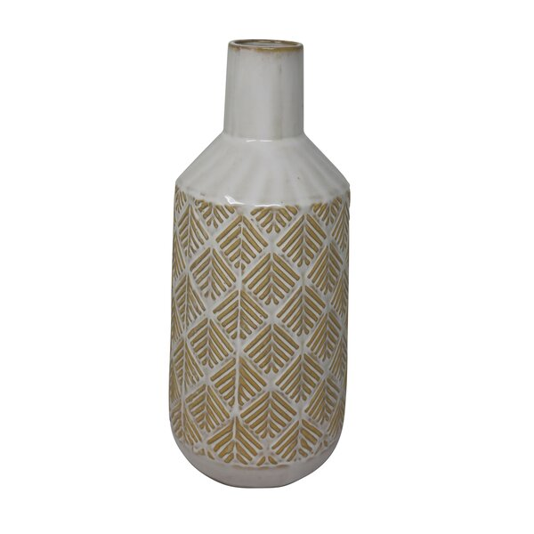 Carnahan Ceramic Tribal Look Table Vase by Union Rustic