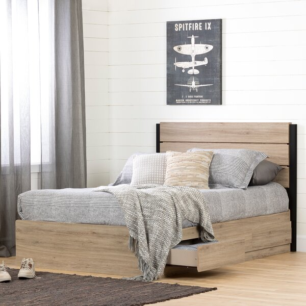 Induzy Full Mates and Captains Bed with Drawers by South Shore