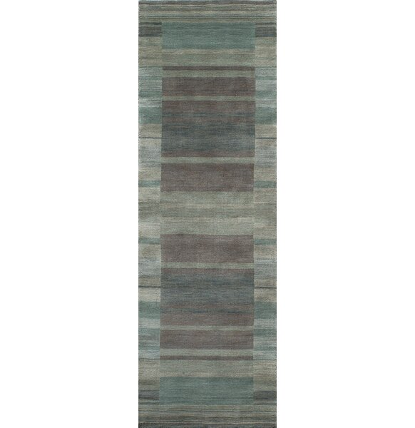 Donaghy Hand-Woven Blue/Gray Area Rug by Ebern Designs