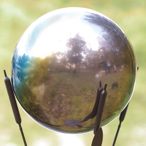 Rainbow Gazing Ball by Wind & Weather