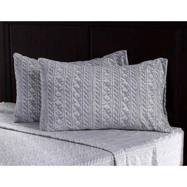 Knit Print Microfleece Sheet Set by Berkshire Blanket