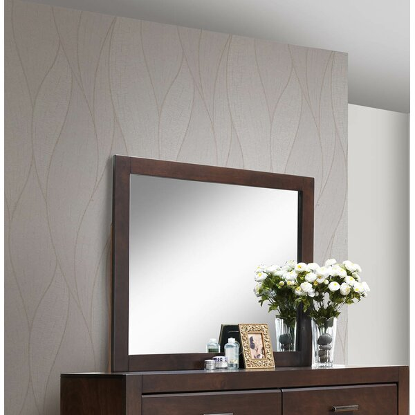 Longstreet Wooden Frame Accent Mirror by Gracie Oaks