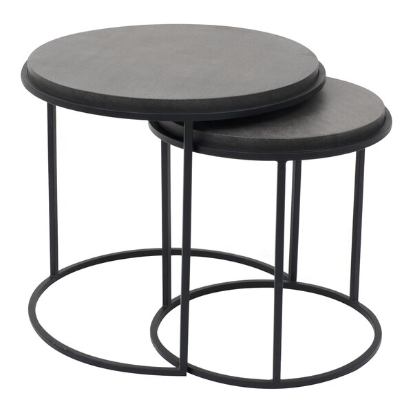Finley 2 Piece Nesting Tables (Set of 2) by 17 Stories