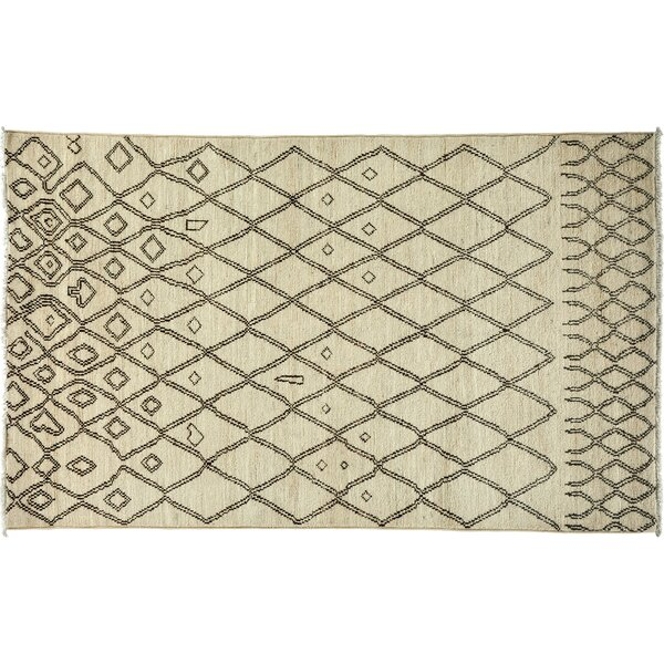 One-of-a-Kind Moroccan Hand-Knotted Ivory Area Rug by Darya Rugs