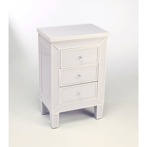 Portis 3 Drawer Accent Chest by Everly Quinn Everly Quinn