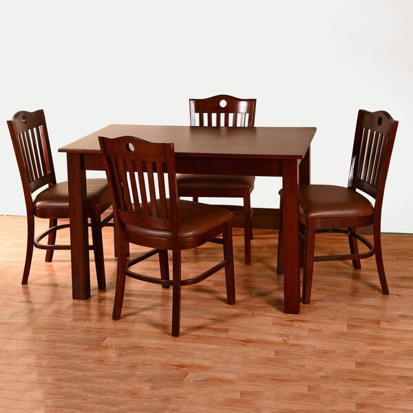Kenner 5 Piece Solid Wood Dining Set by Alcott Hill