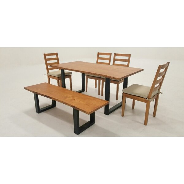 Zimmer Live Edge 6 Piece Solid Wood Dining Set by Union Rustic