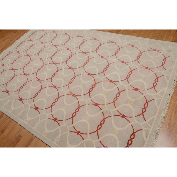 One-of-a-Kind Giacomo Hand-Knotted Wool Gray Area Rug by Astoria Grand