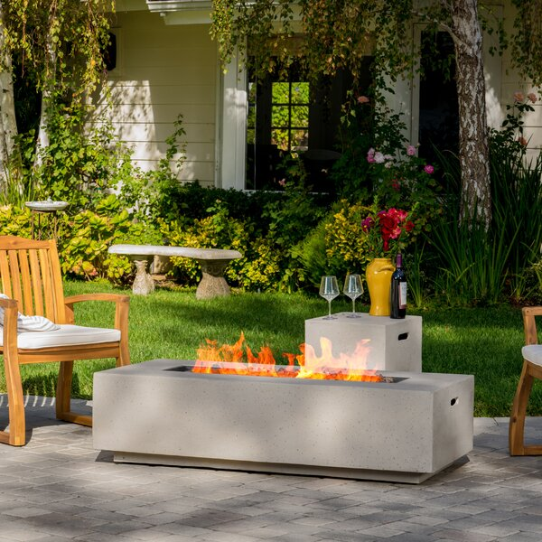 Home Loft Concepts Salta Metal Propane Fire Pit Table U0026 Reviews | Wayfair