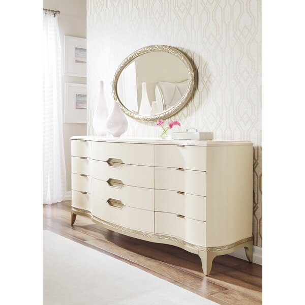 Adela 12 Drawer Standard Dresser Mirror by Caracole Compositions