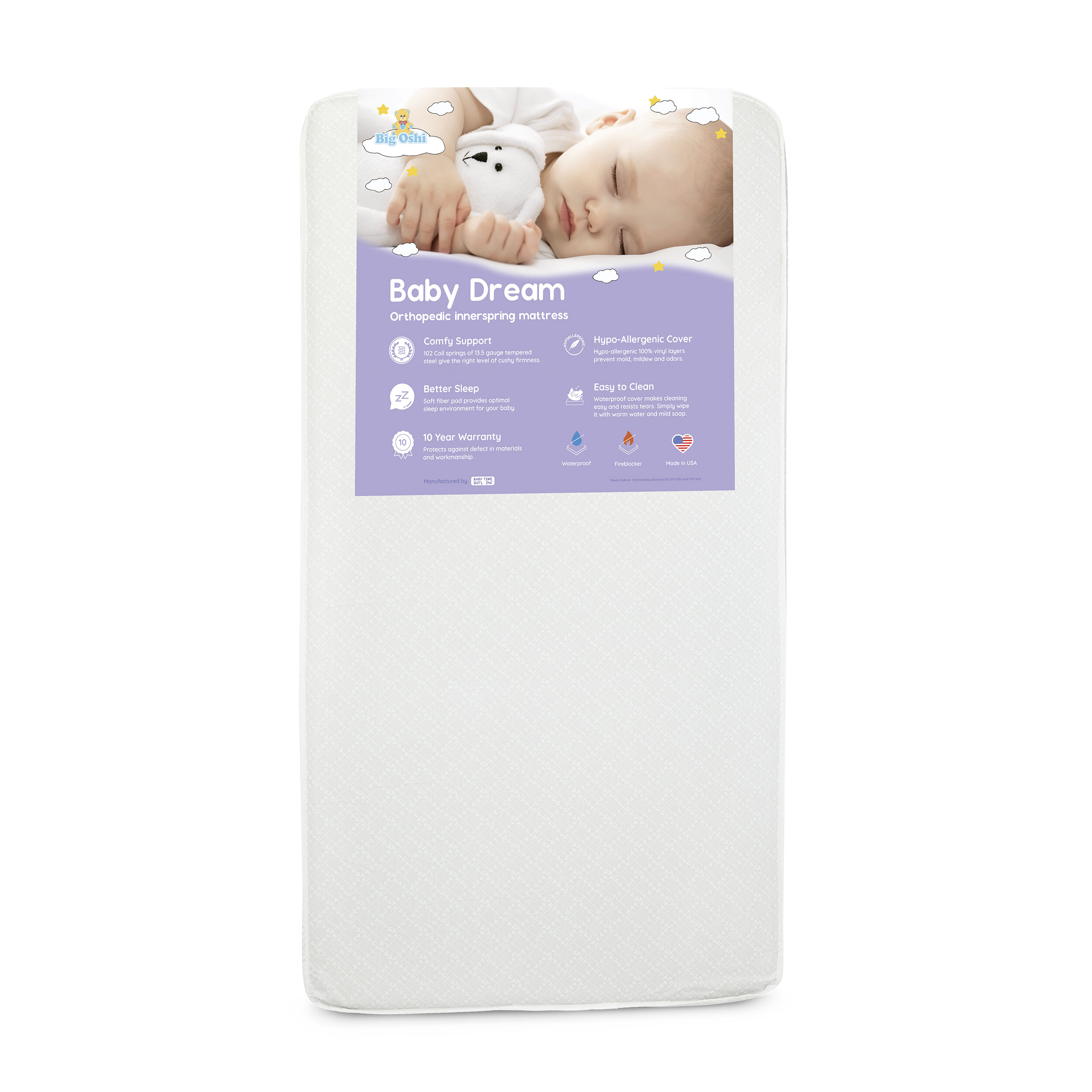 wholesale dealer d38ed 0e0d4 Baby Dream Orthopedic Innerspring Waterproof Standard Crib Mattress