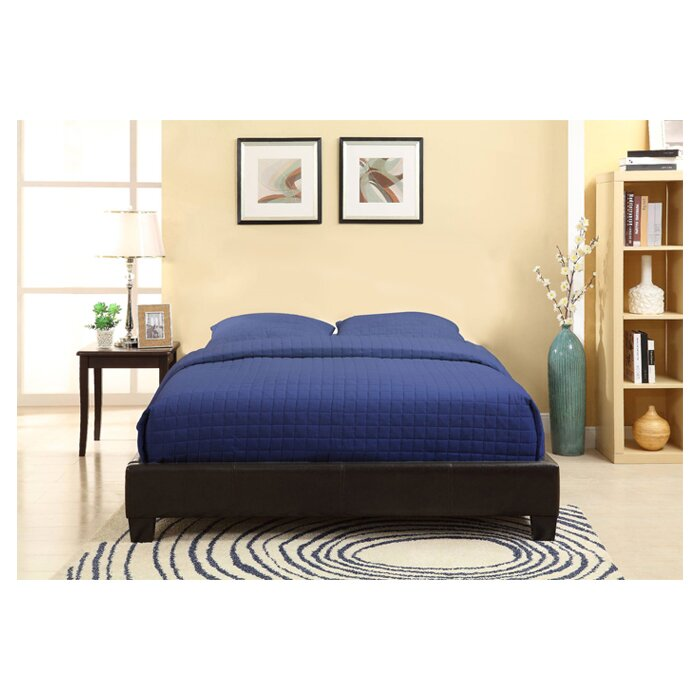 Wade Logan Isa Upholstered Platform Bed Amp Reviews Wayfair