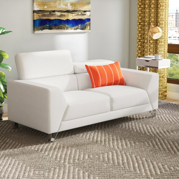 Runkle Adjustable Headrest Loveseat by Brayden Studio
