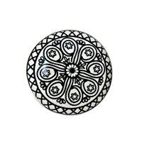 Intricate Motif Flat Ceramic Mushroom Knob by MarktSq