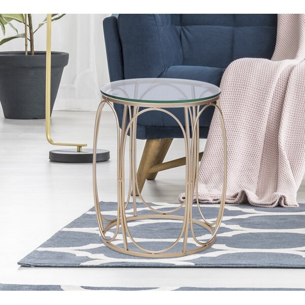 Spurling Glass Top Drum Nesting Tables By Everly Quinn