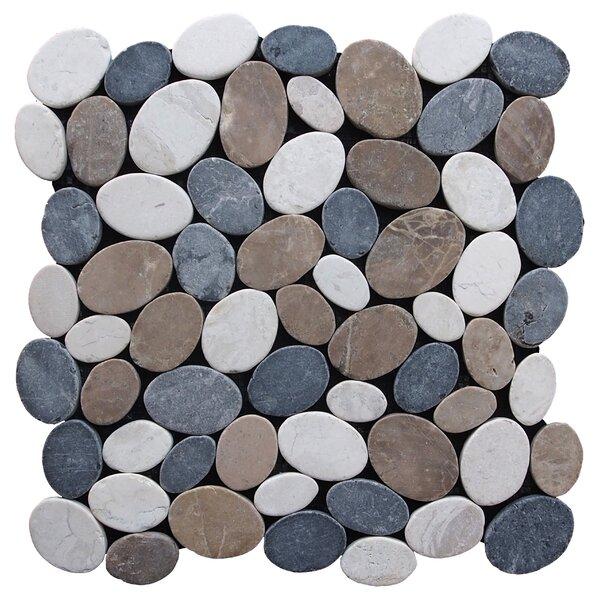12 X 12 Marble Pebble Tile in Multi by Pebble Tile