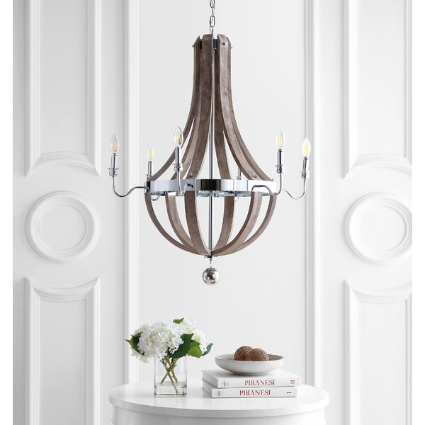 Gatto 6 - Light Candle Style Empire Chandelier by Gracie Oaks Gracie Oaks
