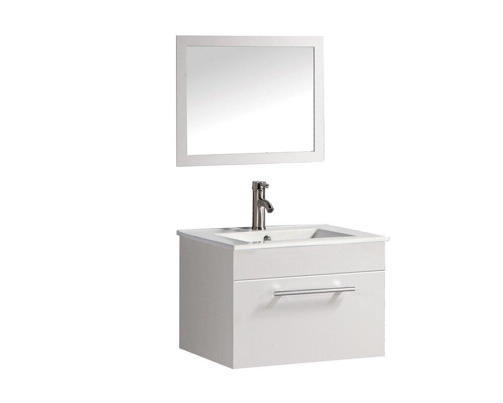 Bathroom sink bathroom cabinets - Helmsford 24 Single Sink Bathroom Vanity Set With Mirror
