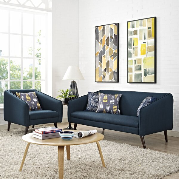Slide 2 Piece Living Room Set by Modway