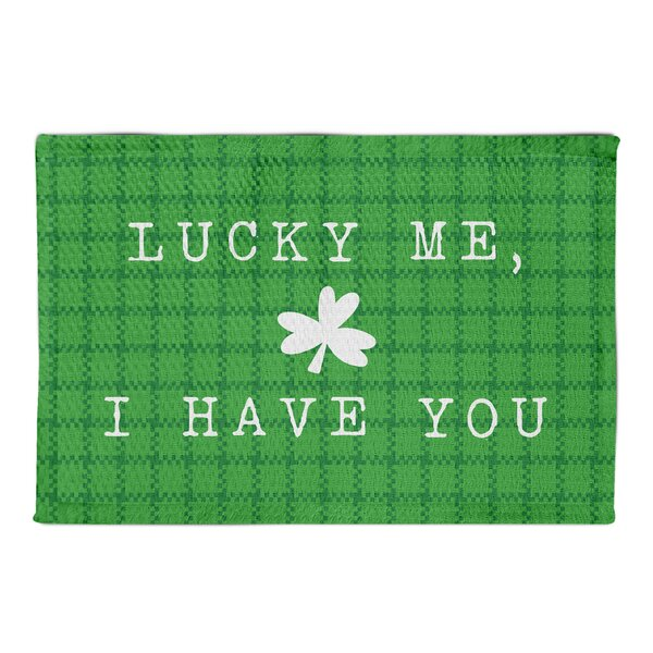 Hutson Lucky Me I Have You Green Area Rug by Latitude Run