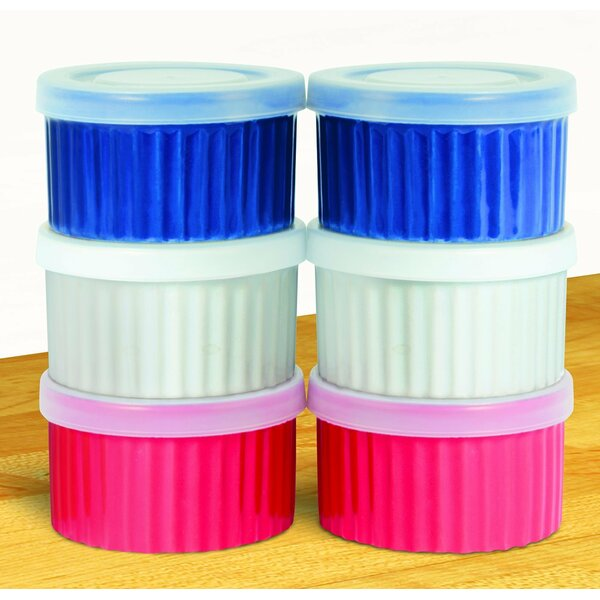 Round Ceramic Ramekins with Lids by Imperial Home