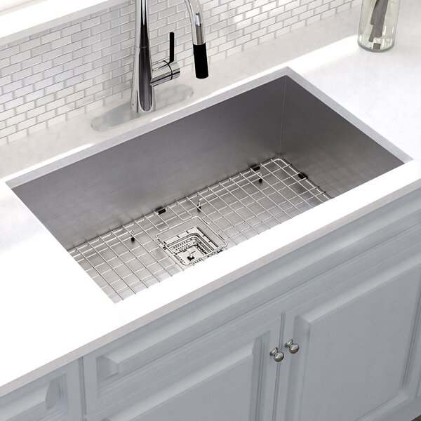 Pax™ 31 x 18 Undermount Kitchen Sink with Drain Assembly by Kraus