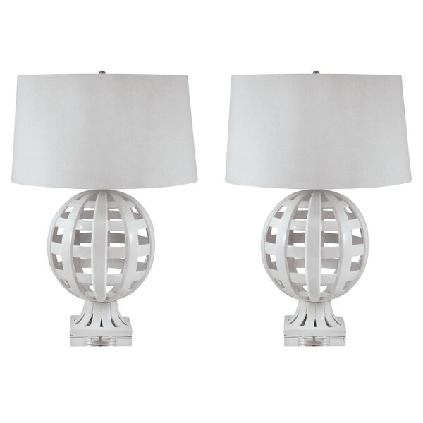 Denn Open Work Globe 28 Table Lamp (Set of 2) by Brayden Studio