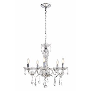 Reviews Colindale 5-Light Chandelier By House of Hampton